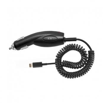 iPhone Lightning autolader met gekrulde kabel