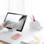 Telefoon/tablet- en pennenhouder houten olifant