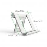 Universele bureaustandaard smartphone/tablet inklapbaar wit