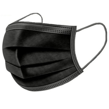 Mondkapjes 3-laags 50 stuks zwart